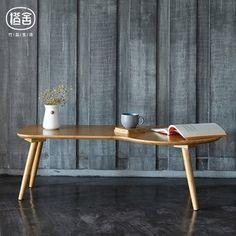 橙舍 创意现代实木小茶几竹家具多功能阳台凳日式榻榻米茶几凳