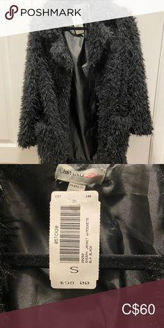 Black Sherpa Jacket with Pockets-Envy-Small-NWT Brand new black Sherpa jacket from Envy. Originally $98. Tags still attached. envy Jackets & Coats