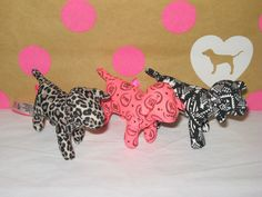 Victoria's Secret PINK Mini Dog Leopard Aztec Logo Set Of 3 2014 Collectable NEW #VictoriasSecret