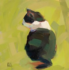 Hemingway Cat original oil painting by Angela Moulton 10 x 10 inch on canvas pre-order by prattcreekart on Etsy