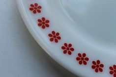 Rare Find Friendship Pyrex  Plate   Red on by SouthernVintageGa, $18.00