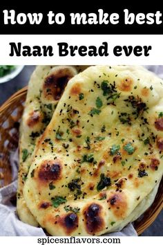 Oct 2019 - The only recipe YOU need on how to make naan bread at home like a PRO. Make Indian restaurant style Butter/Garlic Naan at home in just 4 simple steps. Naan Bread Recipe Easy, Make Naan Bread, How To Make Naan, Homemade Naan Bread, Recipes With Naan Bread, Food To Make, Indian Naan Bread Recipe, Pizza Recipes, Savoury Baking