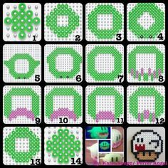 3D Mario Boo Ghost perler pattern by PerlerAngel
