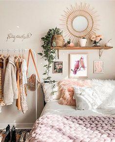 Boho Bedroom Diy, Boho Room, Room Ideas Bedroom, Bedroom Decor, Bedroom Designs, Modern Bohemian Bedrooms, White Room Decor, Eclectic Bedrooms, Cosy Bedroom