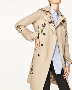 Image 6 of EMBROIDERED TRENCH COAT from Zara