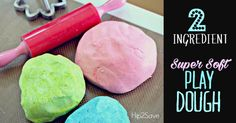 2 Ingredient Super Soft Play Dough Hip2Save