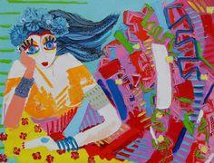 Maeva - 116 x 89 cm - Huile sur toile