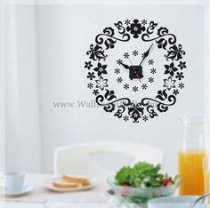 Flower Clock Wall Decals – WallDecalMall.com Cheap Flowers, Colorful Flowers, Discount Flowers, Wonderful Flowers, Flower Wall Stickers, Clock Wall, Wall Colors, Cricut Ideas, Clocks
