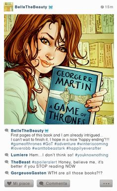 Selfie Fables | What if disney characters have Instagram | Belle | SIMONA BONAFINI