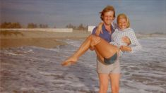 Donald and Ivana Trump on the beach