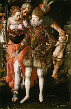 Justus Tiel, Flemish, active last third of the 16th century, Allegory of the Education of Philip III, 1590, oil on canvas, Museo Nacional del Prado, Madrid