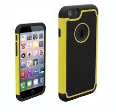 Funda de goma protectora para Iphone 6 color amarillo