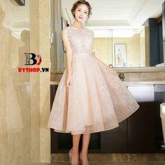 DK106 - Đầm dự tiệc chân váy xòe cổ điển và tinh tế – Thời Trang Nữ BYshop