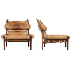 Arne Norell Inca Easy Chairs Produced by Arne Norell AB in Sweden at 1stdibs