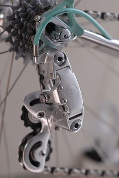 Bianchi X4 with Campagnolo C-Record derailleur.