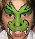 Face Painting Fun for Everyone! Dinosaur Face Painting, Face Painting Halloween Kids, Monster Face Painting, Dragon Face Painting, Face Painting For Boys, Face Painting Designs, Halloween Face, Dragon Makeup, Kids Makeup