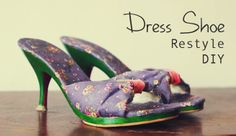 Dress Shoe Restyle using modpodge and nail paint