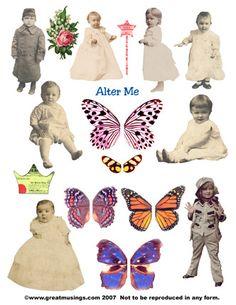 digital collage sheet - Alter Me