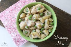 Creamy mac and peas | www.veggiesdontbite.com | #vegan #plantbased #glutenfree