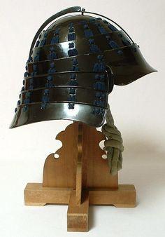 Antique Japanese Samurai Chochin Kabuto Helmet, Edo period.