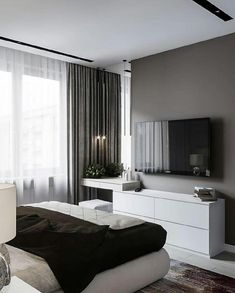 60 best master bedroom ideas that you'll fall in love with it 51 is part of Interior design bedroom - 60 best master bedroom ideas that you'll fall in love with it 51 Related Modern Bedroom Design, Home Room Design, Master Bedroom Design, Home Decor Bedroom, Bedroom Ideas, Bedroom Tv, Bedroom Interiors, Master Bedrooms, Bedroom Storage