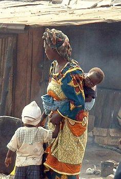 Woman with children nigeria