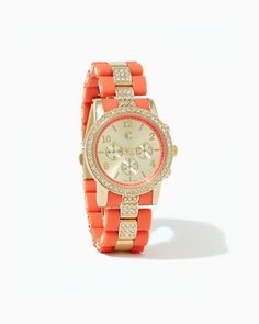 Thalia Two-toned Watch   Coral   charming charlie
