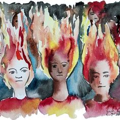 The Flames of Dissent.  #blacklivesmatter #georgefloyd #minneapolis #watercolourpainting #art #fire Gray Instagram, Watercolour Painting, Minneapolis, Grey, Gray