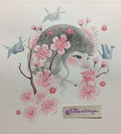 Drawing watercolor Japan