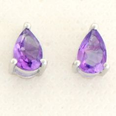 Amethyst 1.35 Carat Gemstone Earrings in 925 Sterling Silver Jewelry