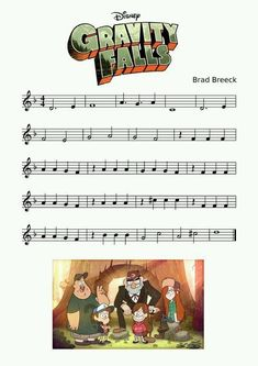 Gravity Falls Theme sheet music for recorder, It also works on the piano and the bells, (xylophone like instrument). Trumpet Sheet Music, Clarinet Sheet Music, Violin Music, Piano Sheet Music, Song Sheet, Music Sheets, Recorder Music, Bass Clarinet, Music Music