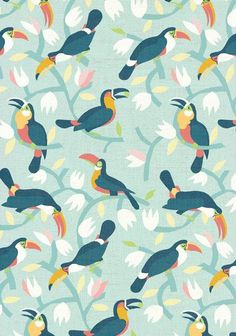 Marco Marella Illustration, motif perroquet, tropical