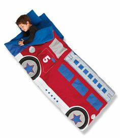 fire truck sleeping bag - Chasing Fireflies