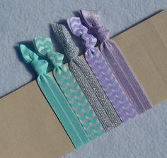 Wintergreen Mint II  Hair Ties by ShillysFrillies on Etsy, $5.25
