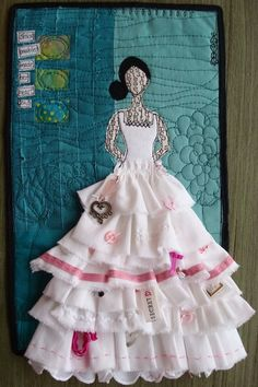 LOVE it! I love how this dress was made. I wish I knew who created it. I am always looking for creative ways to make dress on canvas. This is so awesome.