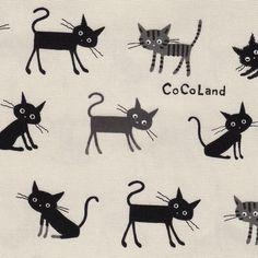 Japanstoff CoCoLand Cats von Himbeerfell auf DaWanda.com