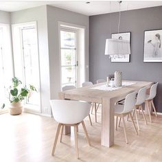 Scandinavian Dining Room Design: Ideas & Inspiration - Di Home Design Scandinavian Interior Design, Scandinavian Living, Scandinavian Christmas, Sweet Home, Dining Room Design, Dining Rooms, Dining Area, Dining Tables, White Dining Table Modern