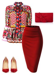 """Tznious #14"" by rlicht on Polyvore featuring Dolce&Gabbana, Christian Louboutin and L.K.Bennett"