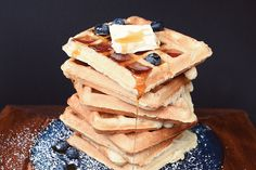 These classic vegan waffles have that light, crisp texture you've been craving. The dairy-free, egg-free recipe is from the cookbook, Aquafaba.