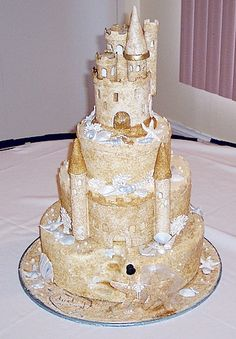 24 Best Sand Castle Wedding Cake Images Cookies Fondant Cakes