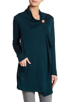 Bobeau New One Button French Terry Cardigan - for over nursing tank tops