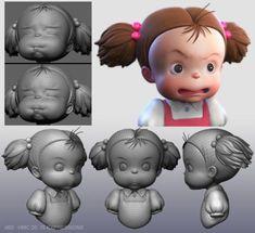 Character Model Sheet, Character Modeling, Character Drawing, Character Concept, 3d Modeling, Zbrush, Studio Ghibli, 3d Modellierung, Carl Y Ellie
