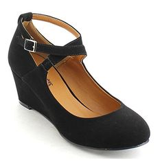 BONNIBEL DEBBY-1 Women's Closed Toe Criss Cross Ankle Strap Wedge Heel Pumps, Color:BLACK, Size:8 BONNNIBEL http://www.amazon.com/dp/B013FMCUDO/ref=cm_sw_r_pi_dp_VJ-cwb0H9T1NN