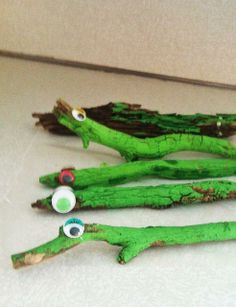 Time for a backyard safari! Find sticks to make amazing alligators.
