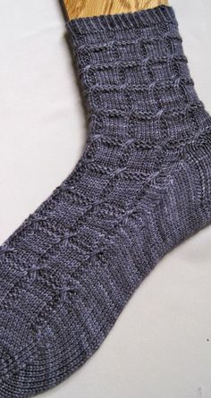 Knitted Sock Pattern Slipped Cable by WearableArtEmporium on Etsy