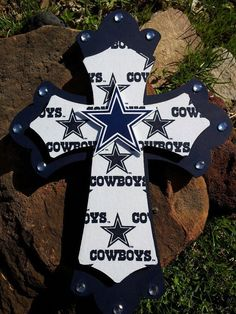 Hey, I found this really awesome Etsy listing at http://www.etsy.com/listing/129181406/16-double-wooden-dallas-cowboys-cross