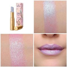 Too Faced La Creme Lipstick Unicorn Tears Love Makeup, Makeup Tips, Makeup Looks, Beauty Make-up, Beauty Hacks, Beauty Tips, Fashion Beauty, Lip Gloss, Make Up Cosmetics