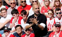 Guardiola was almost left frustrated as his side needed to record a victory to reach 100 p...