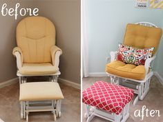 Very cute glider redo.----Repurpose Old Furniture - DIY Furniture Makeovers - Good Housekeeping