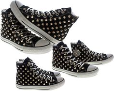 """Studded Converse by CUSTOMDUO on ETSY"" by juin120 on Polyvore"